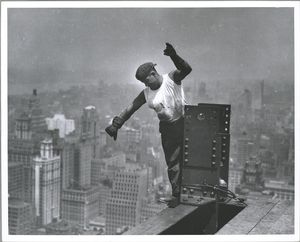 Worker on Empire State buildin... Digital ID: 79874. New York Public Library