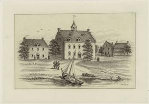 First hotel of New Amsterdam, 1642.