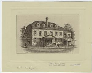 Burn's coffee house (front) N.Y.C., 1760.