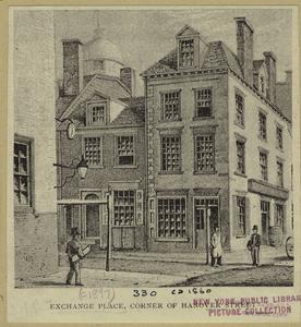 Exchange Place, corner of Hanover Street.