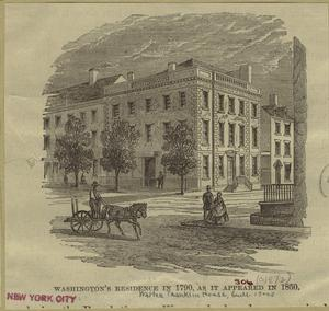 Washington's residence in 1790, as it appeared in 1850.