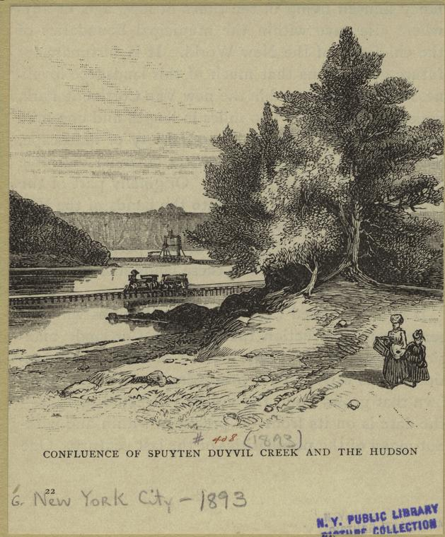Confluence of Spuyten Duyvil Creek and the Hudson, 1893