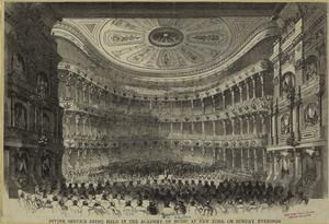 Divine service being held in t... Digital ID: 800324. New York Public Library