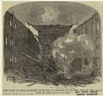 The roof of the Academy of Music, in Brooklyn, blown off by the gale, June 29, 1860.