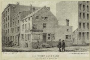 Old Reynold's beer house, cor. of Thames & Temple Sts.
