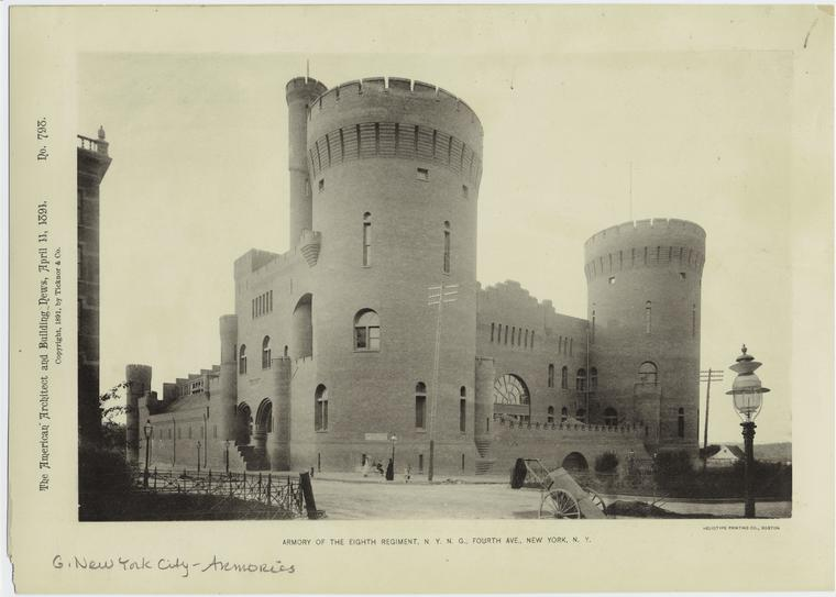 Armory of the Eighth Regiment, N.Y.N.G., Fourth Ave., New York, N.Y.