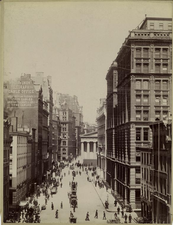 [Broad Street, New York City.]