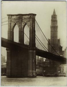 Brooklyn Bridge & Woolworth B'... Digital ID: 800560. New York Public Library