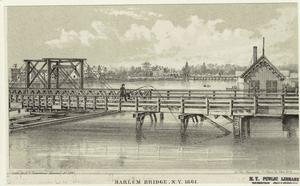 Harlem Bridge, N.Y, 1861.