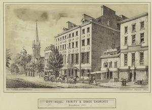 City Hotel, Trinity & Grace churches, Broadway 1831.