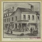 Broadway at Murray Street, 1820.