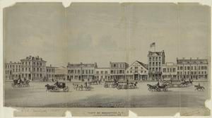 View of Broadway, N.Y. between Howard & Grand Streets, 1840.
