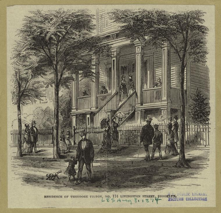 Residence of Theodore Tilton, No. 174 Livingston Street, Brooklyn.