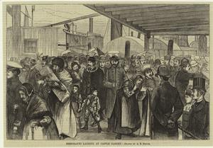 Immigrants landing at Castle G... Digital ID: 800780. New York Public Library