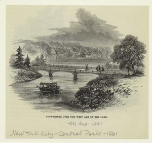 Foot-bridge over the west arm of the lake.