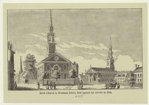 Brick church in Beekman Street, first opened for service in 1768.