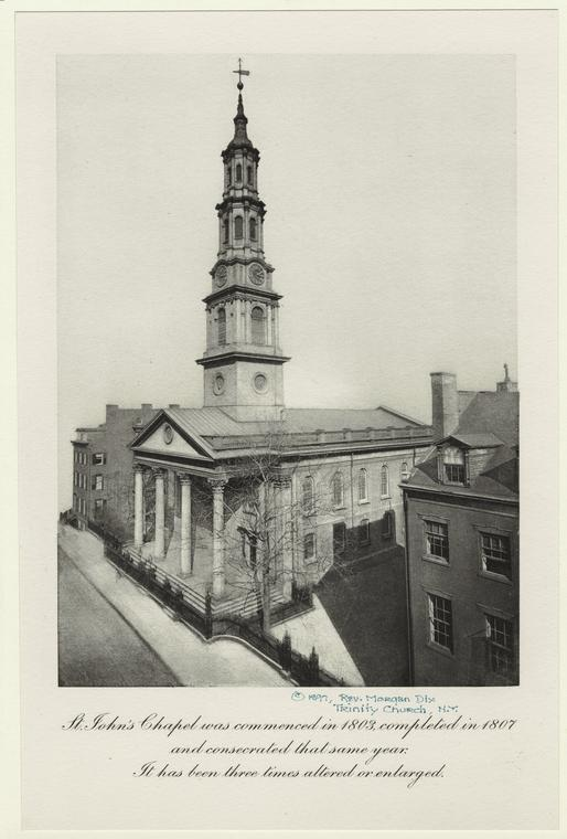St. John's Chapel was commenced in 1803, completed in 1807 and consecrated that same year.