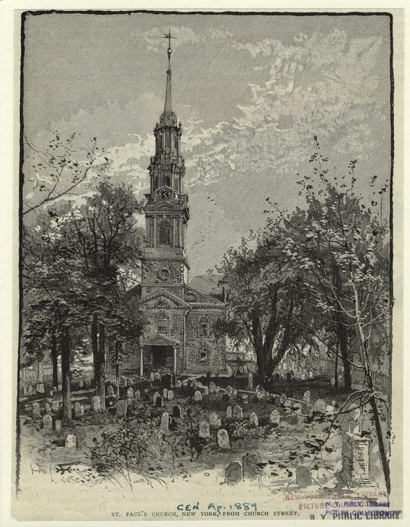 St. Paul's Church, New York, from Church Street.