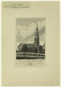 A view of St. Paul's Church, New York.