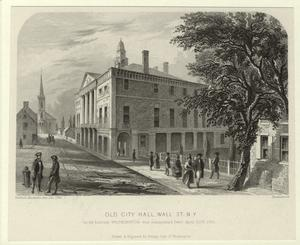 Old City Hall, Wall St. N.Y.