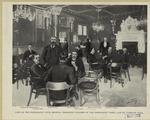 Café of the Democratic Club, showing prominent leaders of the Democratic party and of Tammany Hall