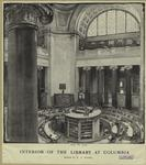 Interior of the library at Columbia