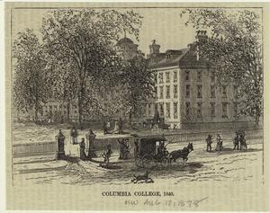 Columbia College, 1840.
