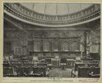 Judges' dais, coutroom, appellate court-house