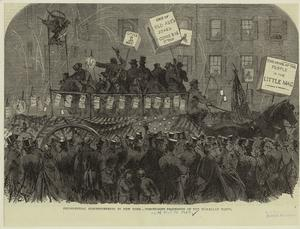 Presidential electioneering in New York -- torchlight prcession of the McClellan party.