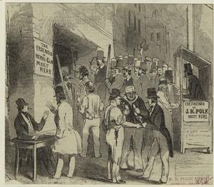 [Supporters of Henry Clay and James Polk, New York City, 1844.]