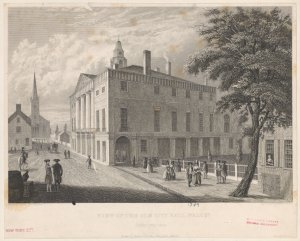 View of the old City Hall, Wall St. : in the year 1789.