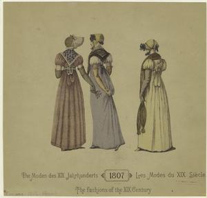 The fashions of the XIX century.