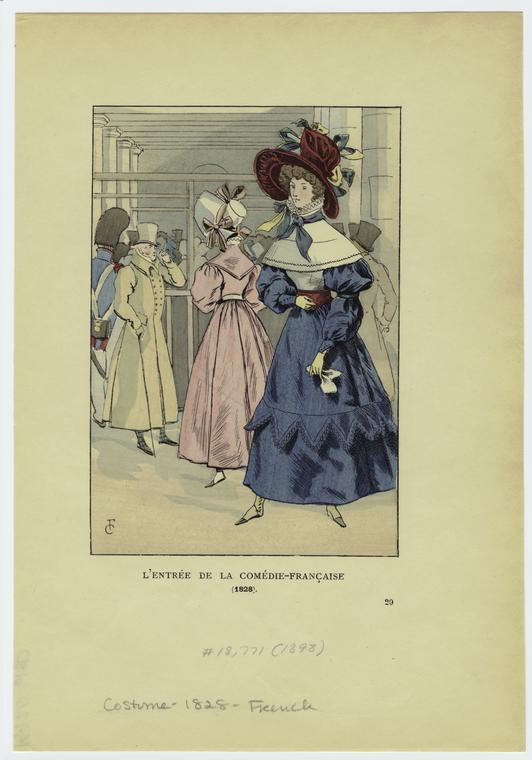 L'entrée de la Comédie-Française (1828).