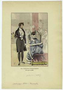 Les élégants romantiques : un bal en 1834.