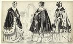 [Women wearing capes in a