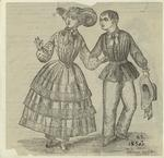 Man And Woman Walking, United States, 1850s.