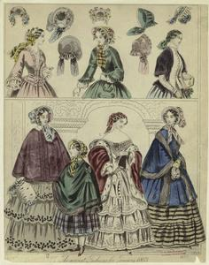 The newest fashions for January 1853.