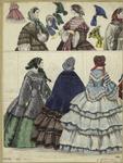 [Women, bonnets and a sle