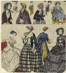 Women, A Girl And Bonnets, England, 1852.