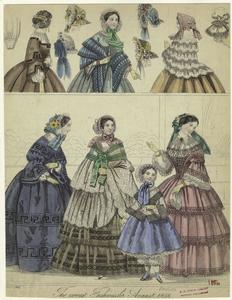The newest fashions for August 1856.