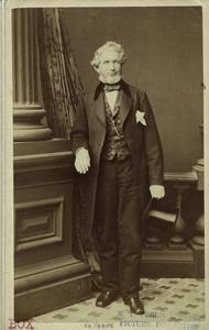[Man standing indoors, United States, 1860s.]