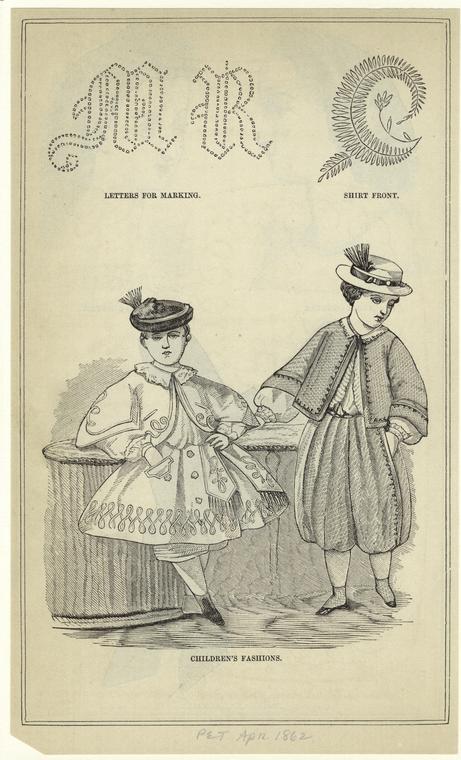 Children's fashions.