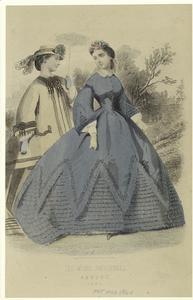 Les modes parisiennes, August, 1864.