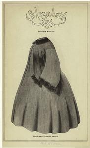 Black beaver cloth sacque.