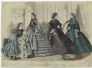 Godey's fashions for April, 1861.