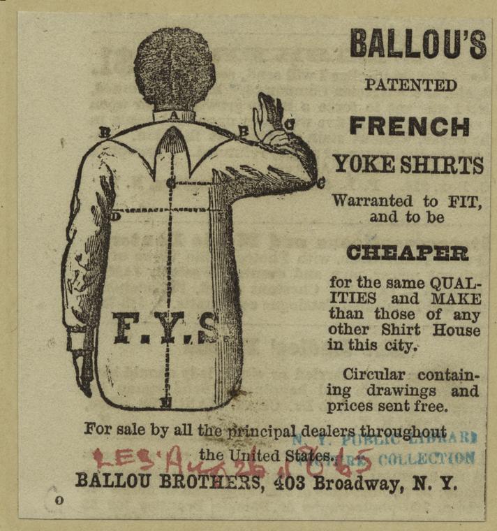 Ballou's patented French yoke shirts.