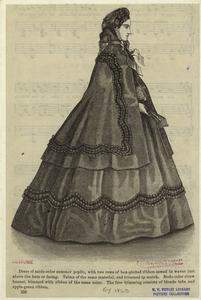 [Woman standing, United States, 1860s.]