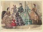 Godey'S Fashions For February 1863.