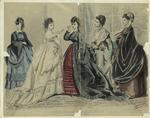 Les modes parisiennes, Peterson's magazine, December 1869