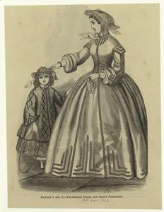 Promenade dress and girl's pardessus.